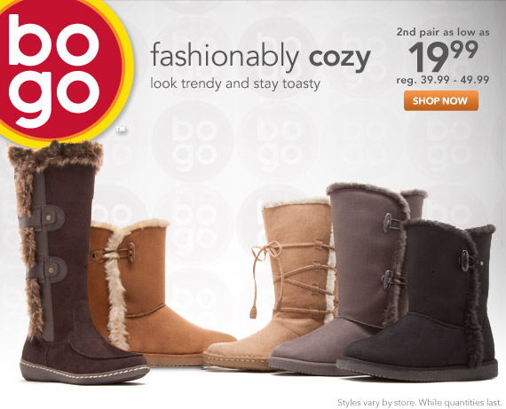 Look trendy and stay toasty with cozy boots!