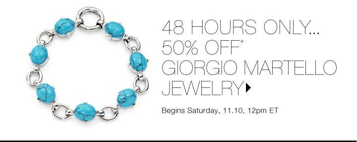 50% Off* Giorgio Martello Jewelry…Shop now