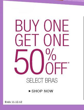 Shop BOGO 50% Bras
