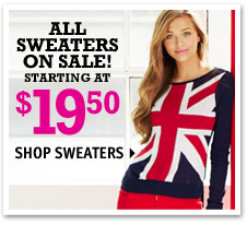 SWEATERS ON SALE!
