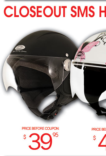 SMS Helmets Closeout - starting at 29.95