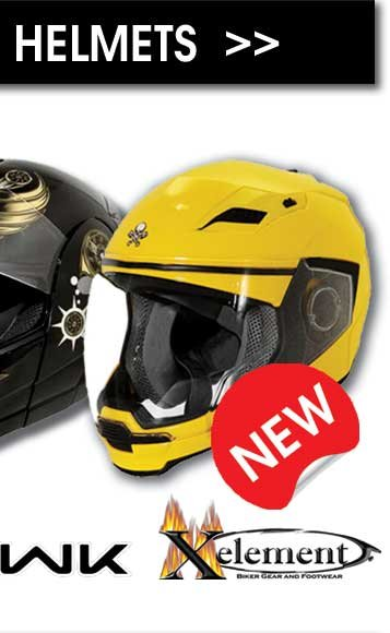Outlaw, Hawk, and the New Xelement Helmets