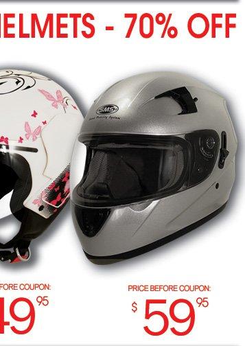 Half Face - $39; Full Face - $59