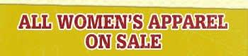 All Women's Apparel on Sale