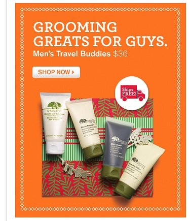 GROMMING GREATS FOR GUYS Men s Travel Buddies 36 dollars SHOP NOW