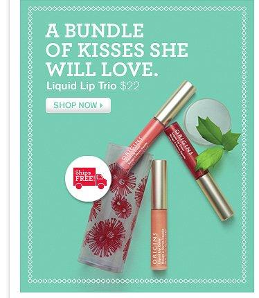A BUNDLE OF KISSES WILL LOVE Liquid Lip Trio 22 dollars SHOP NOW