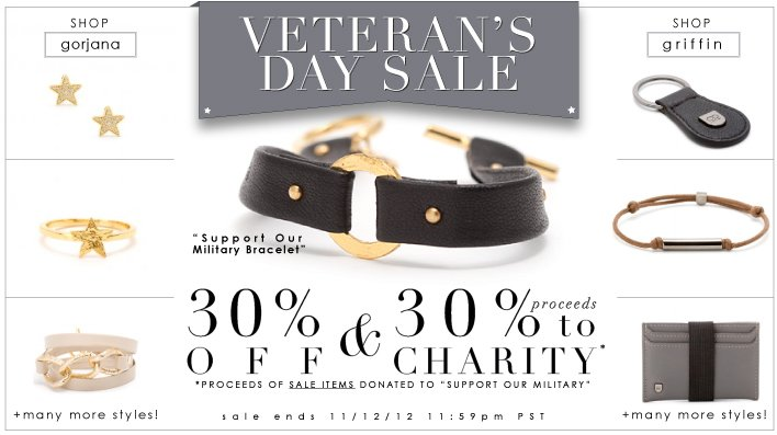 30% off curated section | 30% of proceeds goes to charity