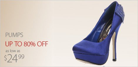 Pumps as low as $24.99