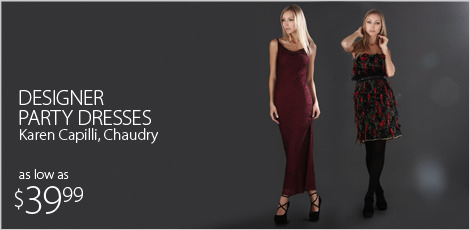 Designer party dresses Karen Capilli, Chaudry