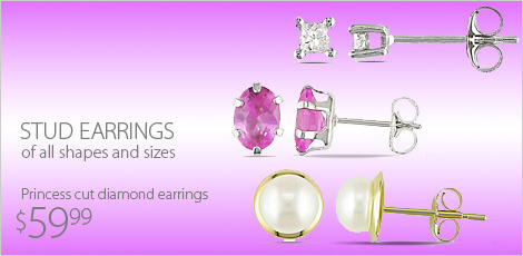 Stud Earrings of all shapes and sizes