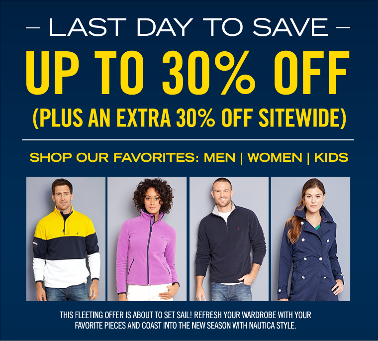 LAST DAY! Fall Favorites Sale! Take Up To 30% off PLUS an EXTRA 25% off Sitewide.