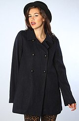 The Patterson Wool Blend Peacoat in Total Eclipse