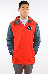 The Coaches Jacket in Red & Thunderstorm Blue