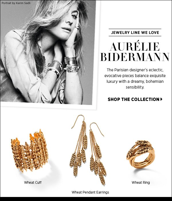 Discover Aurélie Bidermann jewelry. The Parisian designer's eclectic, evocative pieces balance exquisite luxury with a dreamy, bohemian sensibility. Shop Aurélie Bidermann >>