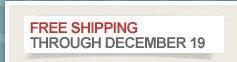 Free Shipping through December 19