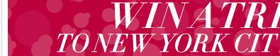 LIKE us on Facebook for a chance to Win a trip to New York City for the Holidays! Enter Now!