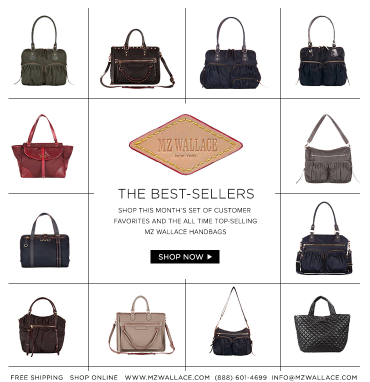 Shop this month's set of customer favorites and the all time top-selling MZ Wallace handbags.