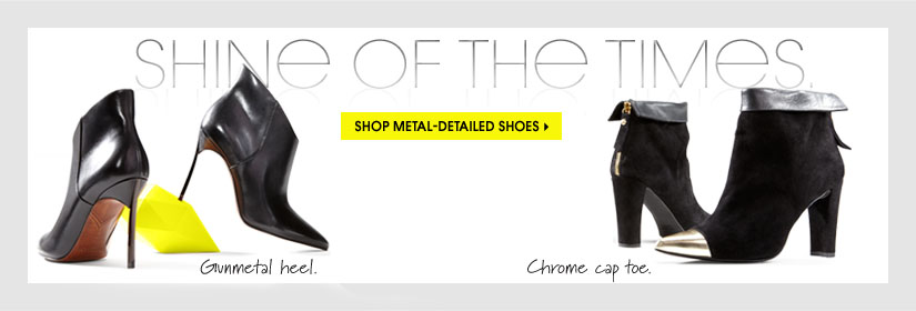SHINE OF THE TIMES. SHOP METAL-DETAILED SHOES