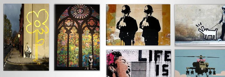 Shop Brand-New Canvas Prints by Banksy