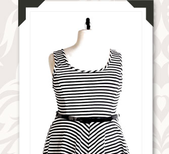 Licorice Fresh Skater Dress by Re/Dress