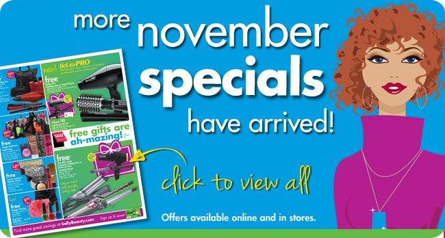 more november specials have arrived!