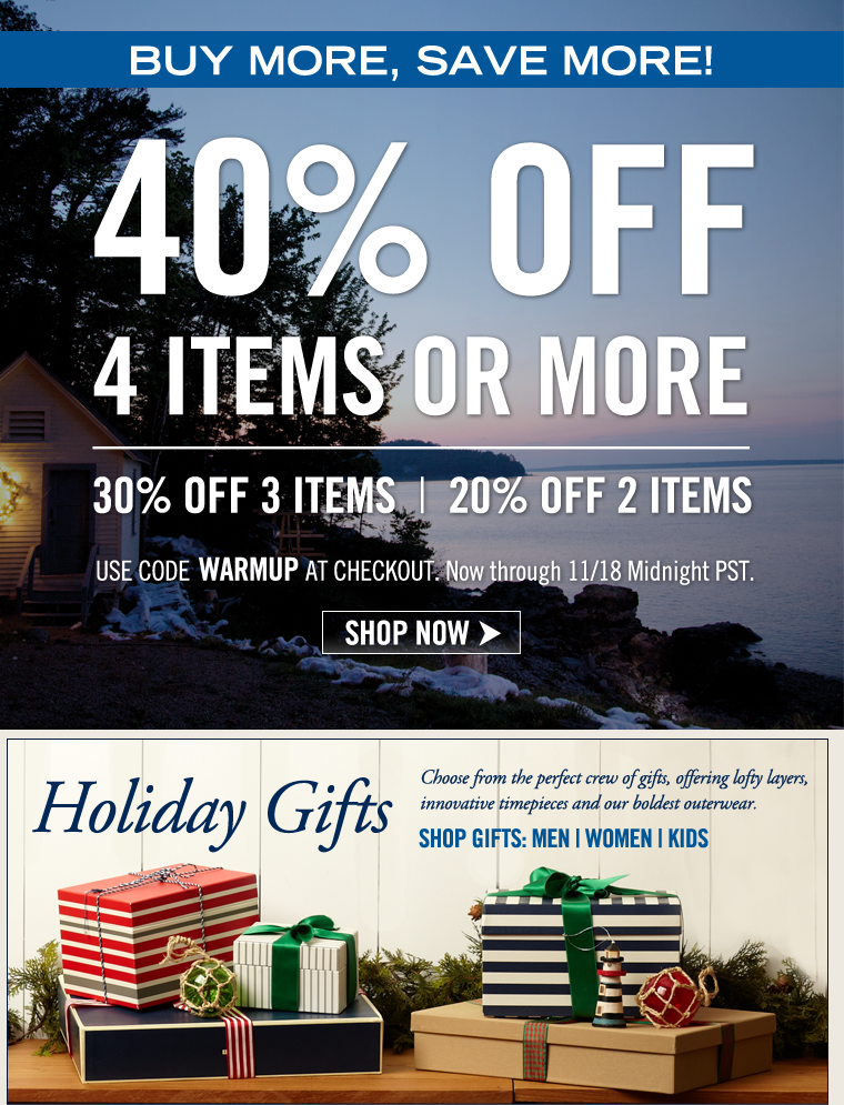 BUY MORE, SAVE MORE! 40% off when you buy 4 items or more!