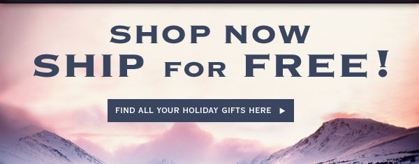 Shop Now Ship for Free!  Fina All Your Holiday Gifts Here