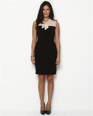 Nine West Necktie Peplum Dress $55