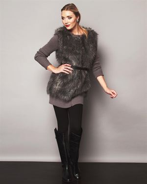 French Connection Fur Trimmed Sweater $89