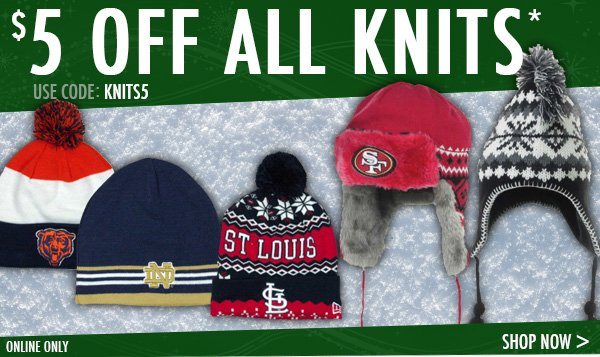$5 off all knits