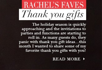 Click here to see Rachel's Faves