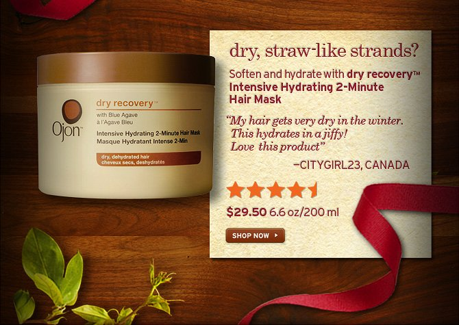 dry  straw like strabds Soften and hydrate with dry recovery intensive  hydrating 2 minute Hair Mask My hair gets very dry in the winter This  hydrates in a jiffy love this product CITYGIRL23 CANADA 29 dollars and  50 cents 6 6 oz 200ml SHOP NOW