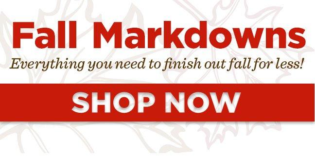 Shop Fall Markdowns