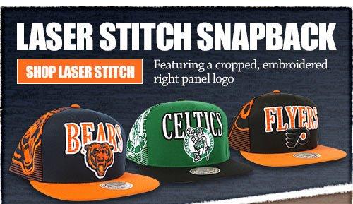 Laser Stitch Snapback - Click Here to Shop Laser Stitch