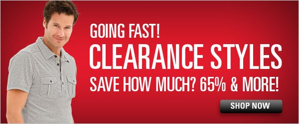 65%+ off Clearance items