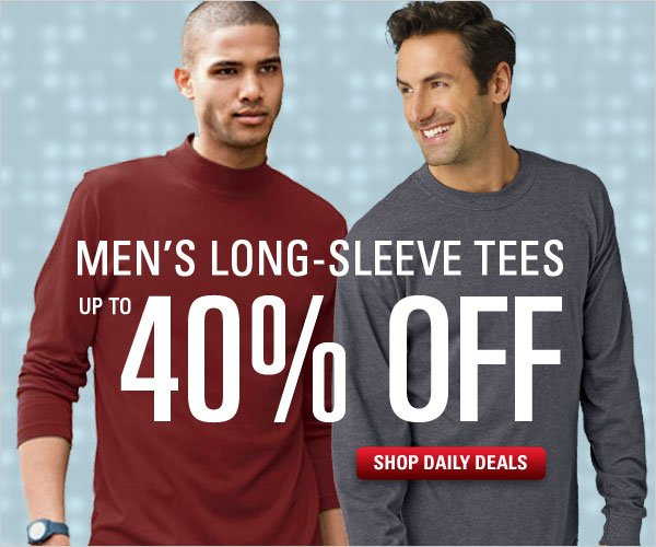 Up to 40% off select long-sleeve tees