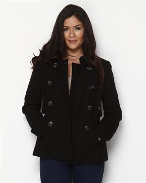 Nine West Wool-Blend Button Accented Coat $45
