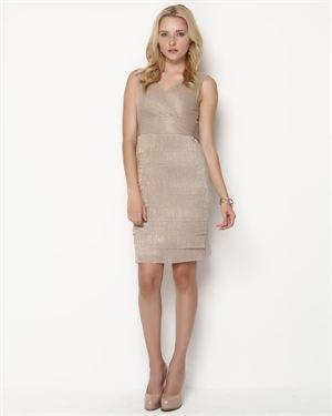 Julia Jordan Metallic Layered Dress $49