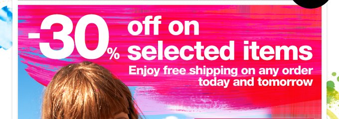 -30% off on selected items