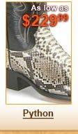 Python Skin Boots