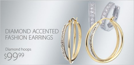 Diamond Accented Fashion Earrings