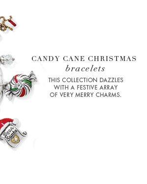 Candy Cane Christmas Bracelets