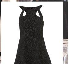 Velvet Cut Out Dress By Boutique