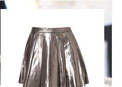 Premium Silver Pleated Skirt
