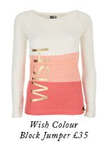 Wish Colour Block Jumper