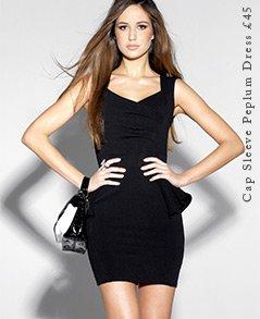 Cap Sleeve Peplum Dress