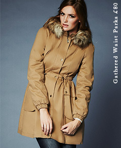 Gathered Waist Parka