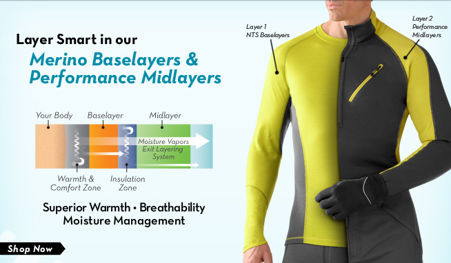 Merino Baselayers and Performance Midlayers