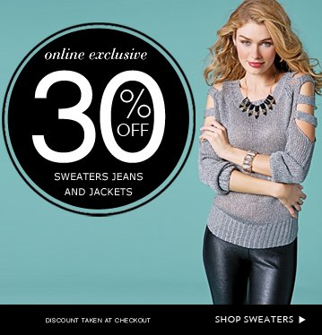 Shop 30% OFF Sweaters