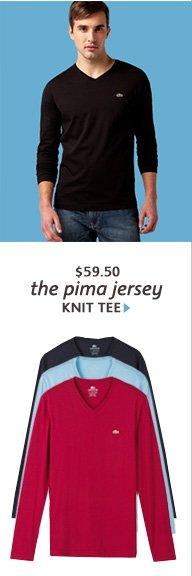 the pima jersey KNIT TEE